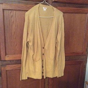 Mossimo women's gold colored sweater *